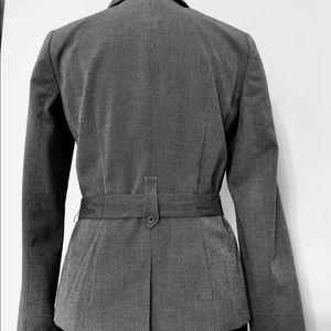 Saks Fifth Avenue Jackets & Coats - Saks Fifth Avenue 3 button/Tie-waist gray jacket